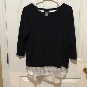 Ann Taylor sweater with blouse edging